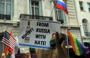 Gay power economic influence-boycott Russian vodka
