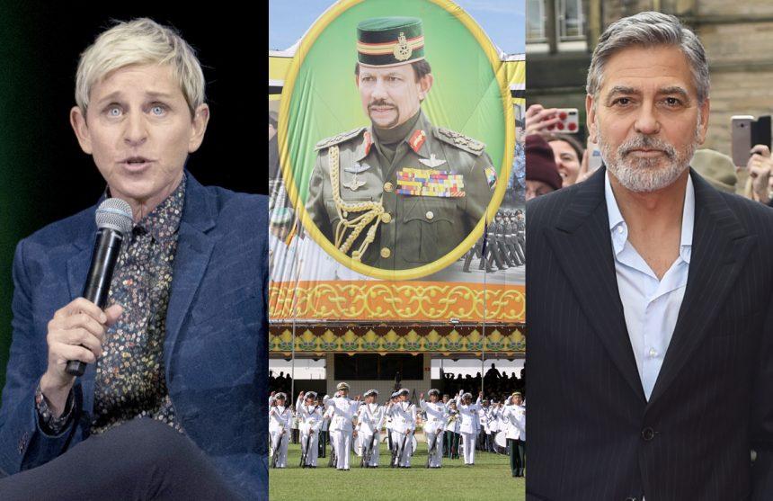 George Clooney – Ellen Degeneres boycott Brunei