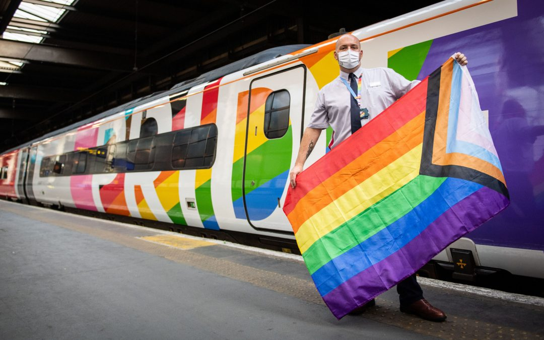 UK- Pride train with full LGBT crew